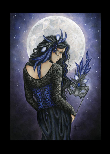 EAP3843 Moonlight Masquerade Matted Print